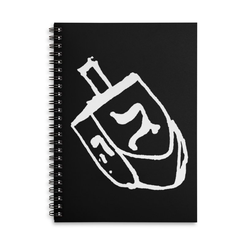 Dreidel Win Accessories Lined Spiral Notebook by jackrabbithollow's Artist Shop