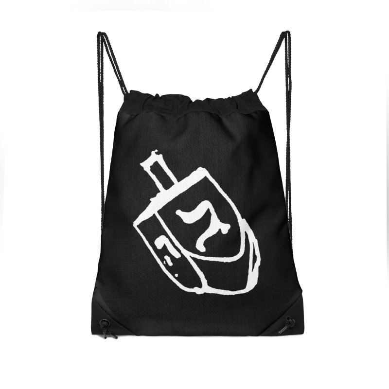 Dreidel Win Accessories Drawstring Bag Bag by jackrabbithollow's Artist Shop