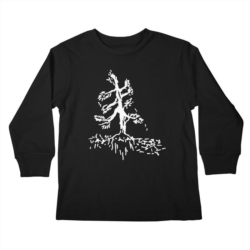 Pine Needle Kids Longsleeve T-Shirt by jackrabbithollow's Artist Shop