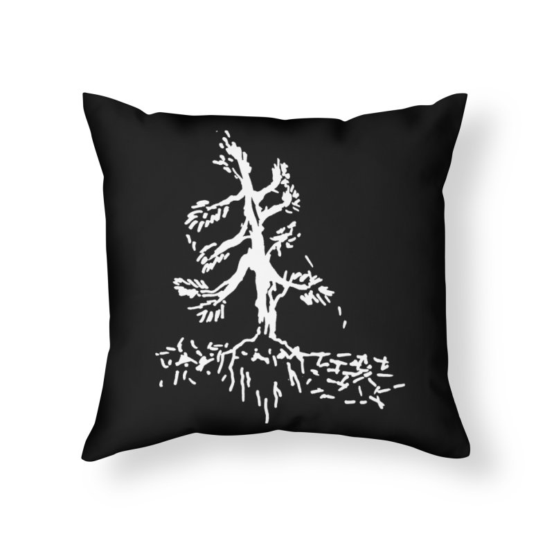 Pine Needle Home Throw Pillow by jackrabbithollow's Artist Shop