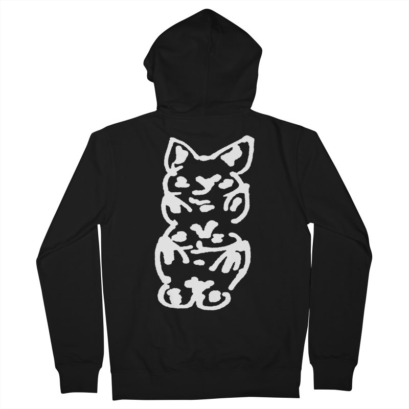 Cat Cats Men's French Terry Zip-Up Hoody by jackrabbithollow's Artist Shop