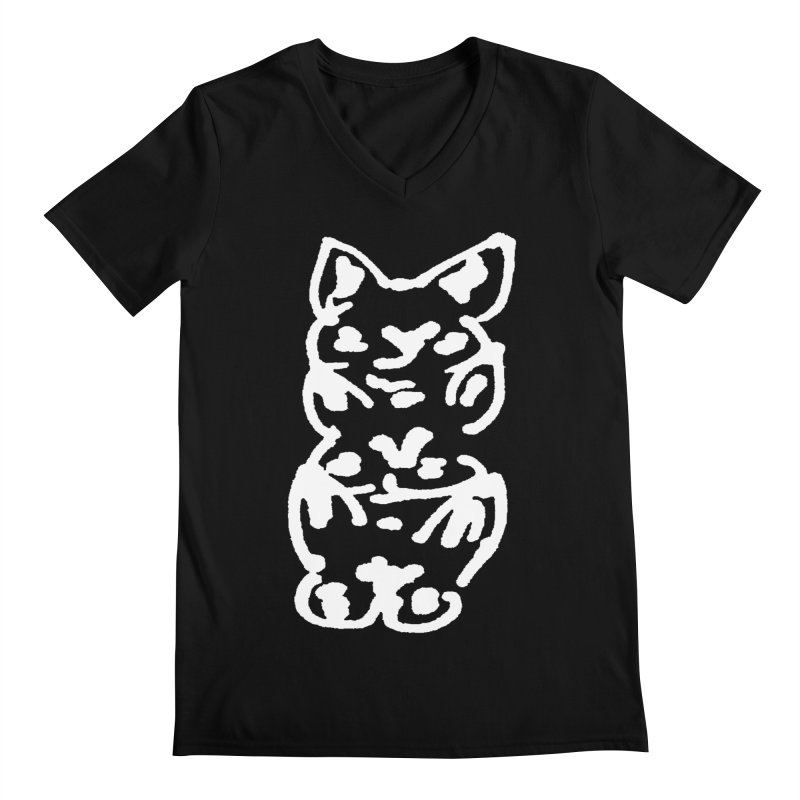 Cat Cats Men's Regular V-Neck by jackrabbithollow's Artist Shop