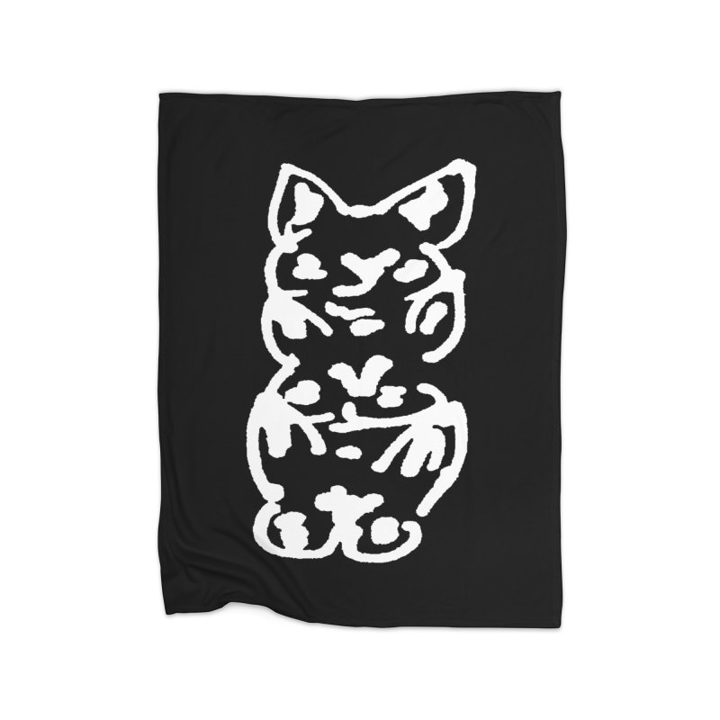 Cat Cats Home Fleece Blanket Blanket by jackrabbithollow's Artist Shop