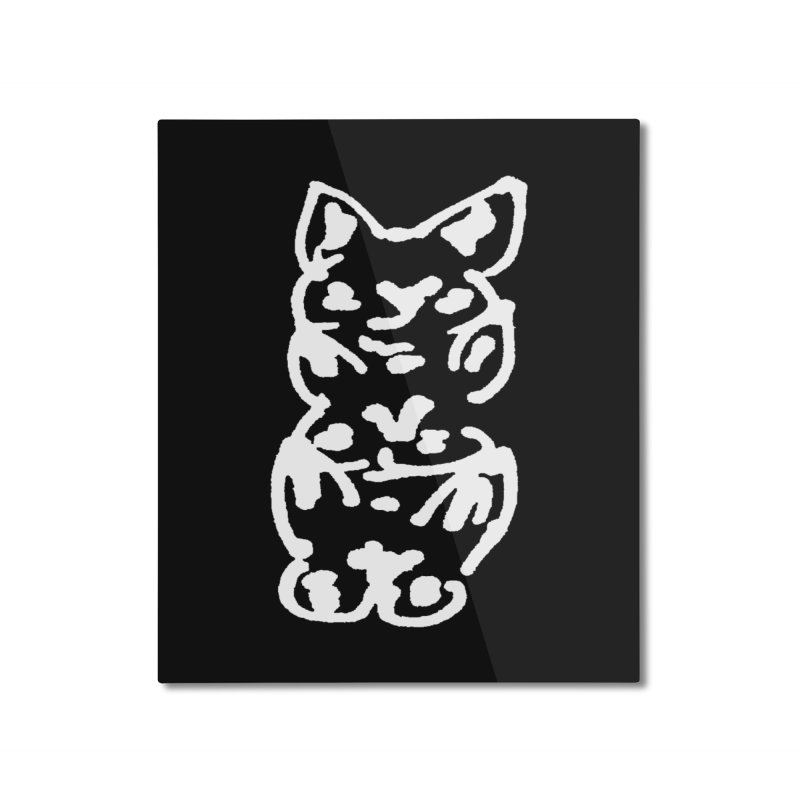 Cat Cats Home Mounted Aluminum Print by jackrabbithollow's Artist Shop