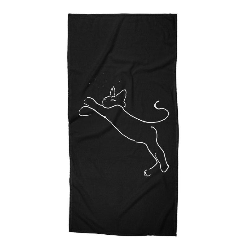 Cat Lounge Accessories Beach Towel by jackrabbithollow's Artist Shop