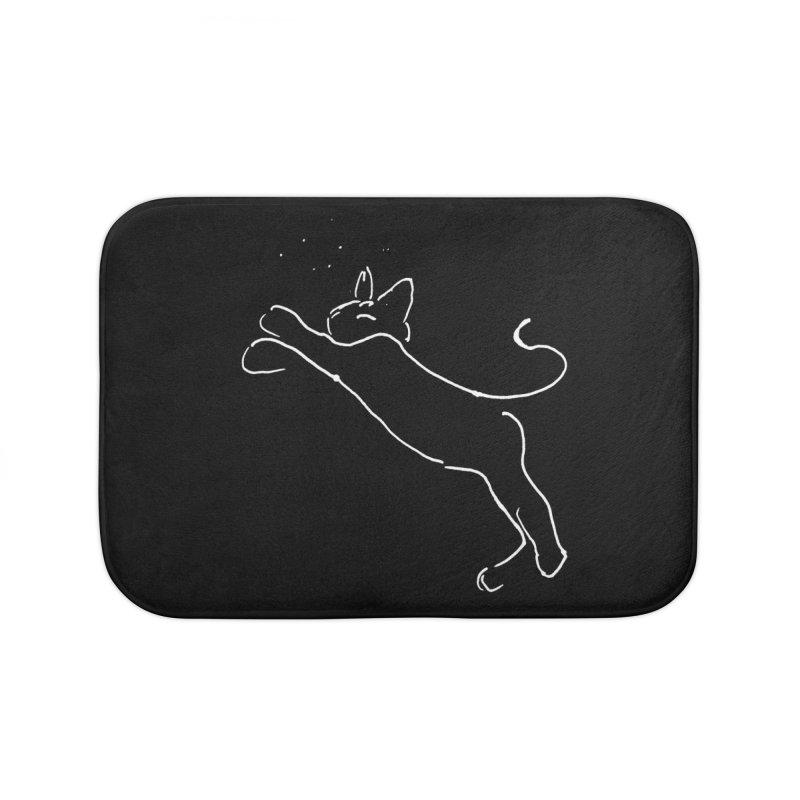 Cat Lounge Home Bath Mat by jackrabbithollow's Artist Shop
