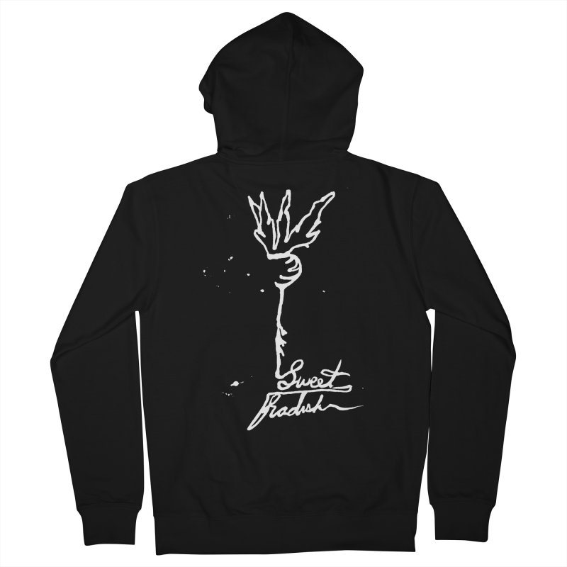 Single Line Sweet Radish Women's French Terry Zip-Up Hoody by jackrabbithollow's Artist Shop