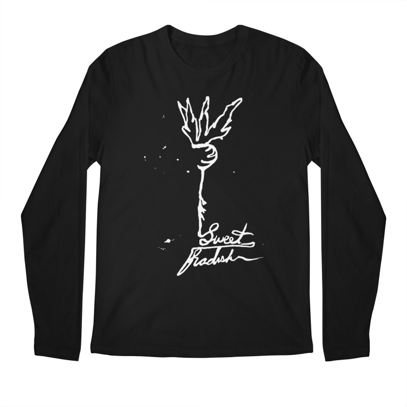 Single Line Sweet Radish Men's Regular Longsleeve T-Shirt by jackrabbithollow's Artist Shop