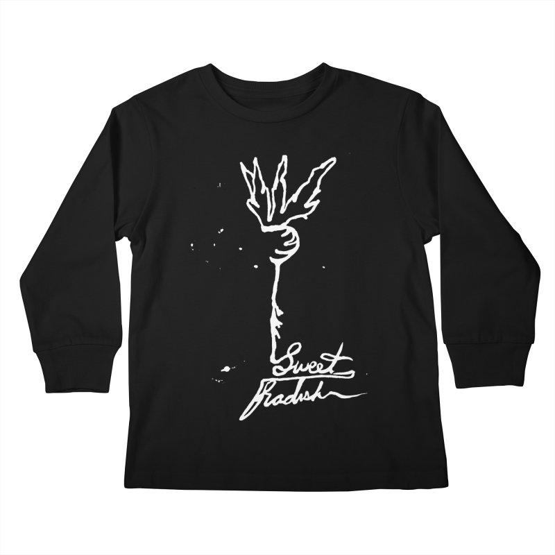 Single Line Sweet Radish Kids Longsleeve T-Shirt by jackrabbithollow's Artist Shop