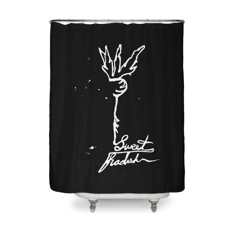 Single Line Sweet Radish Home Shower Curtain by jackrabbithollow's Artist Shop