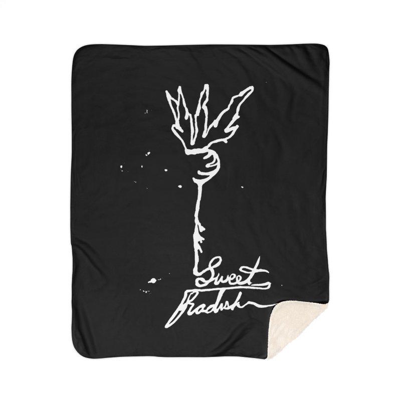 Single Line Sweet Radish Home Blanket by jackrabbithollow's Artist Shop