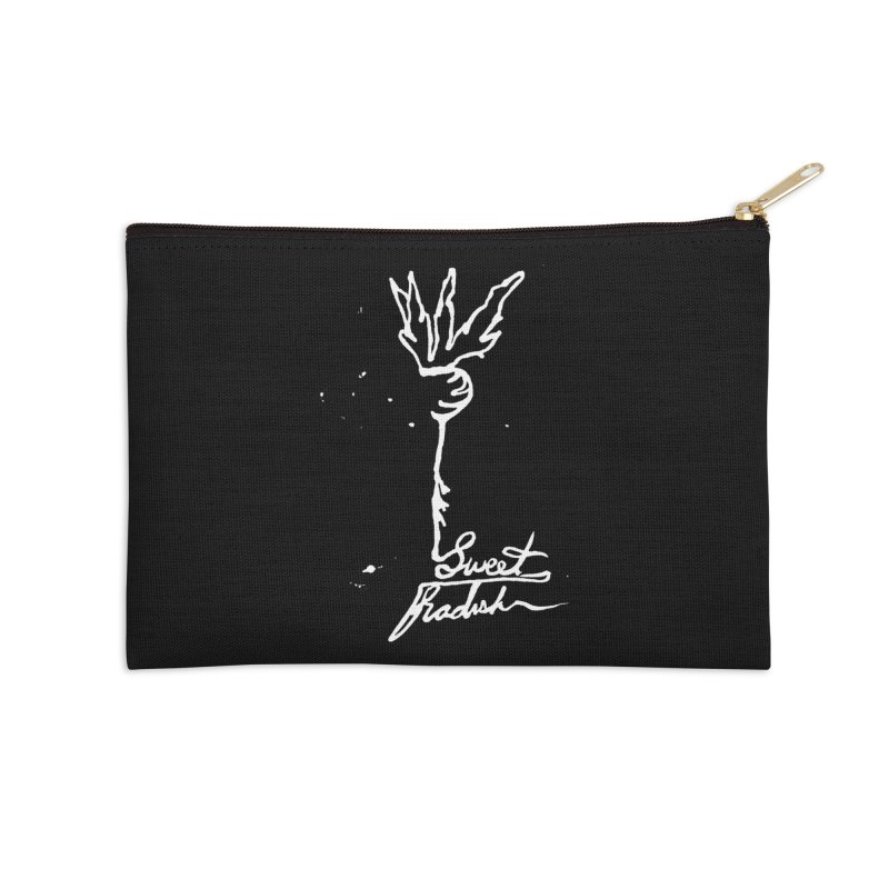 Single Line Sweet Radish Accessories Zip Pouch by jackrabbithollow's Artist Shop