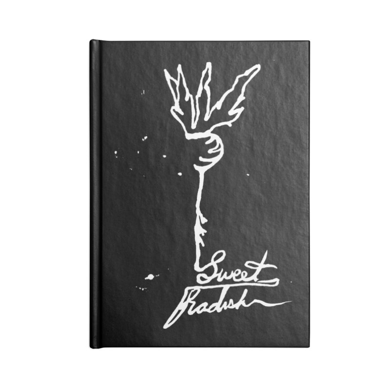 Single Line Sweet Radish Accessories Blank Journal Notebook by jackrabbithollow's Artist Shop