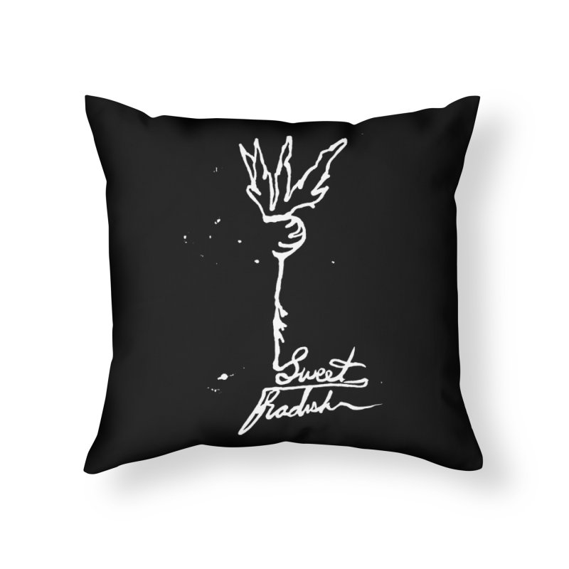 Single Line Sweet Radish Home Throw Pillow by jackrabbithollow's Artist Shop