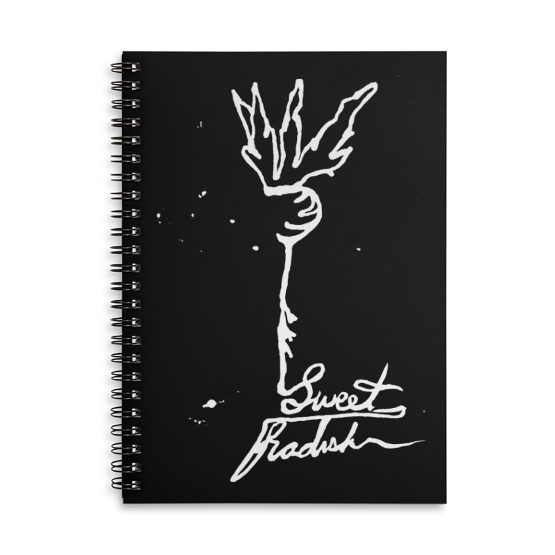 Single Line Sweet Radish Accessories Lined Spiral Notebook by jackrabbithollow's Artist Shop