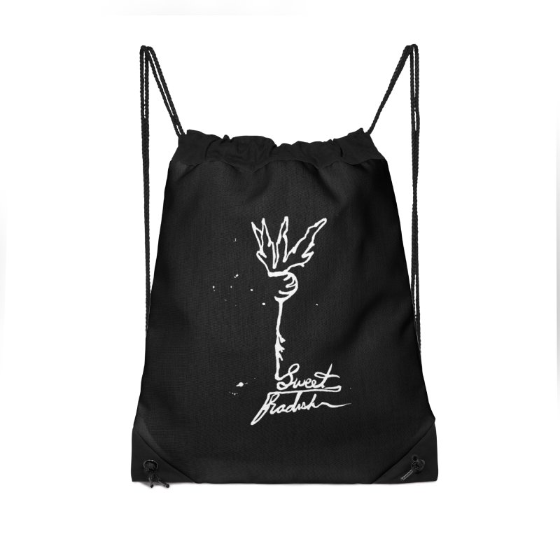 Single Line Sweet Radish Accessories Drawstring Bag Bag by jackrabbithollow's Artist Shop