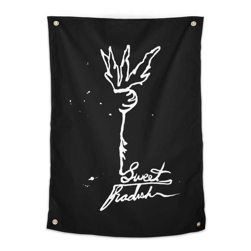 Single Line Sweet Radish Home Tapestry by jackrabbithollow's Artist Shop