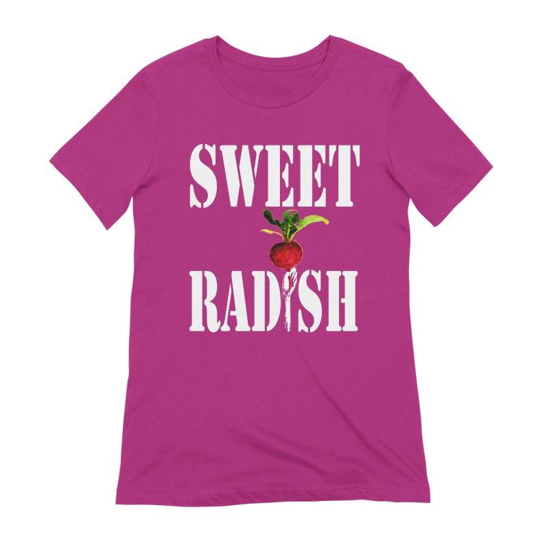 Sweet Radish Stencil Women's Extra Soft T-Shirt by jackrabbithollow's Artist Shop