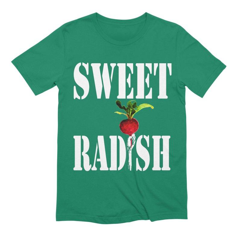 Sweet Radish Stencil Men's Extra Soft T-Shirt by jackrabbithollow's Artist Shop