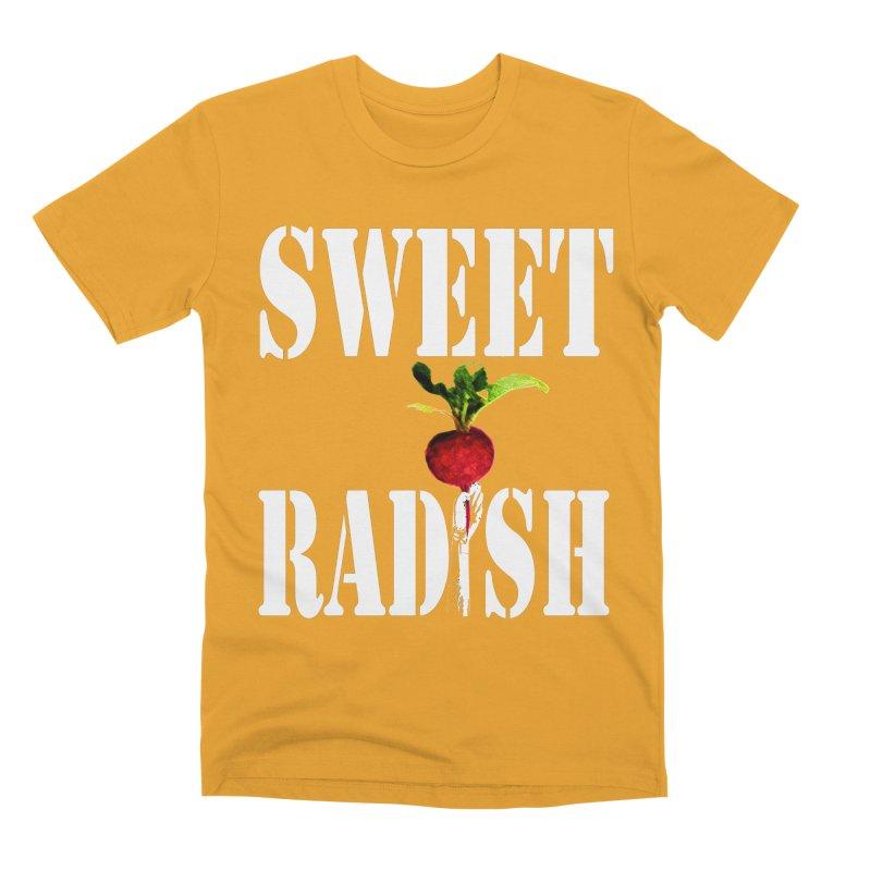 Sweet Radish Stencil Men's Premium T-Shirt by jackrabbithollow's Artist Shop