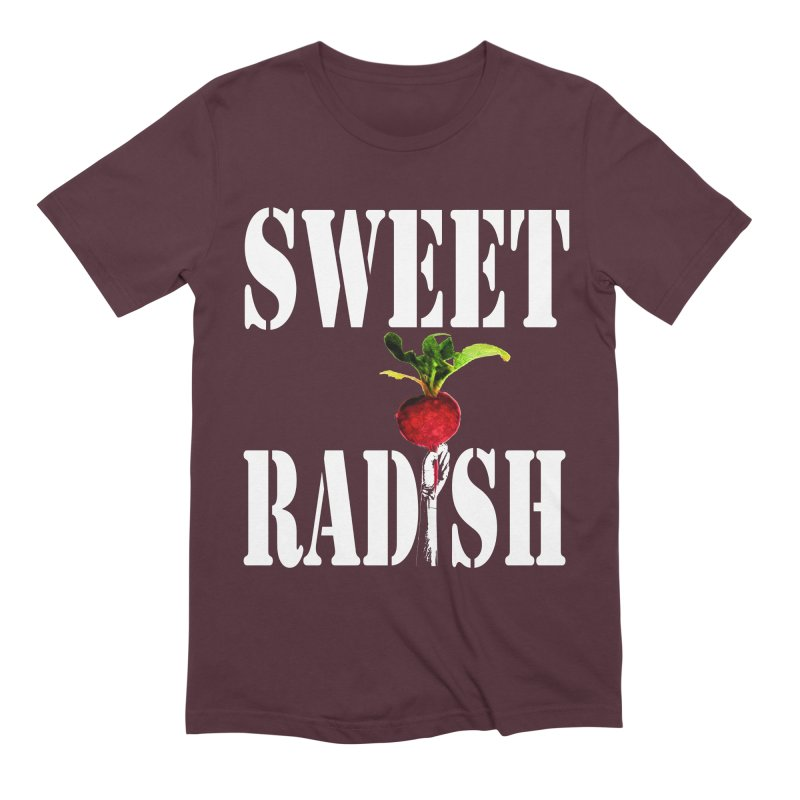 Sweet Radish Stencil Men's Extra Soft T-Shirt by jackrabbithollow's Artist Shop