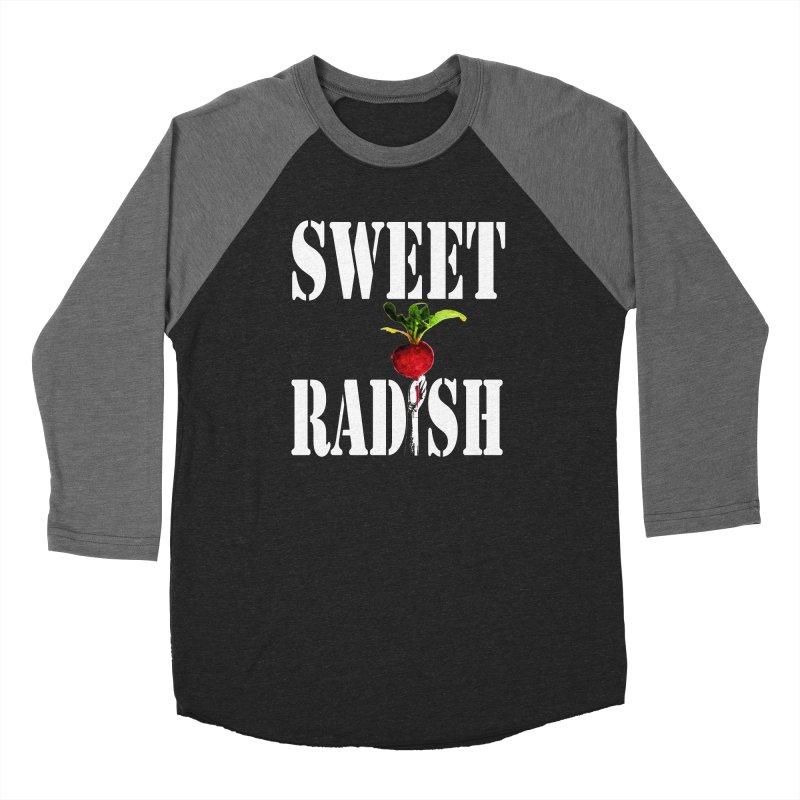 Sweet Radish Stencil Women's Baseball Triblend Longsleeve T-Shirt by jackrabbithollow's Artist Shop