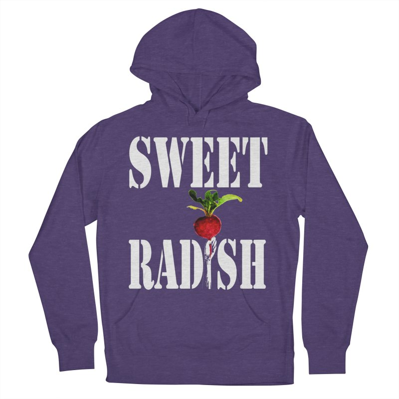 Sweet Radish Stencil Women's French Terry Pullover Hoody by jackrabbithollow's Artist Shop