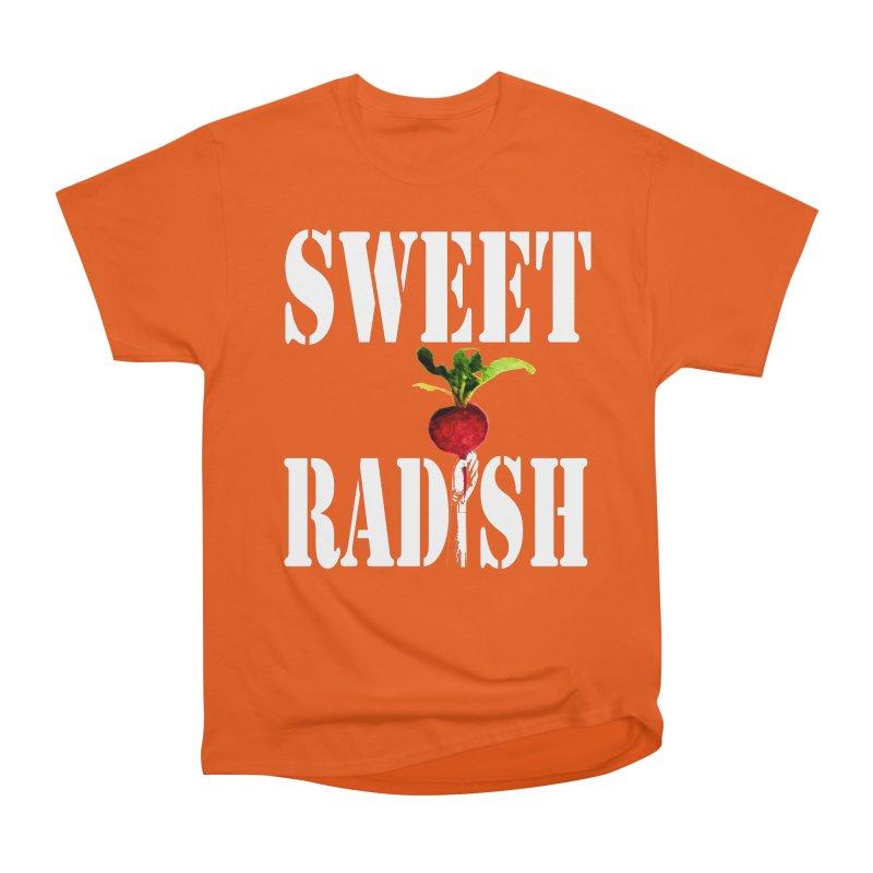 Sweet Radish Stencil Women's Heavyweight Unisex T-Shirt by jackrabbithollow's Artist Shop