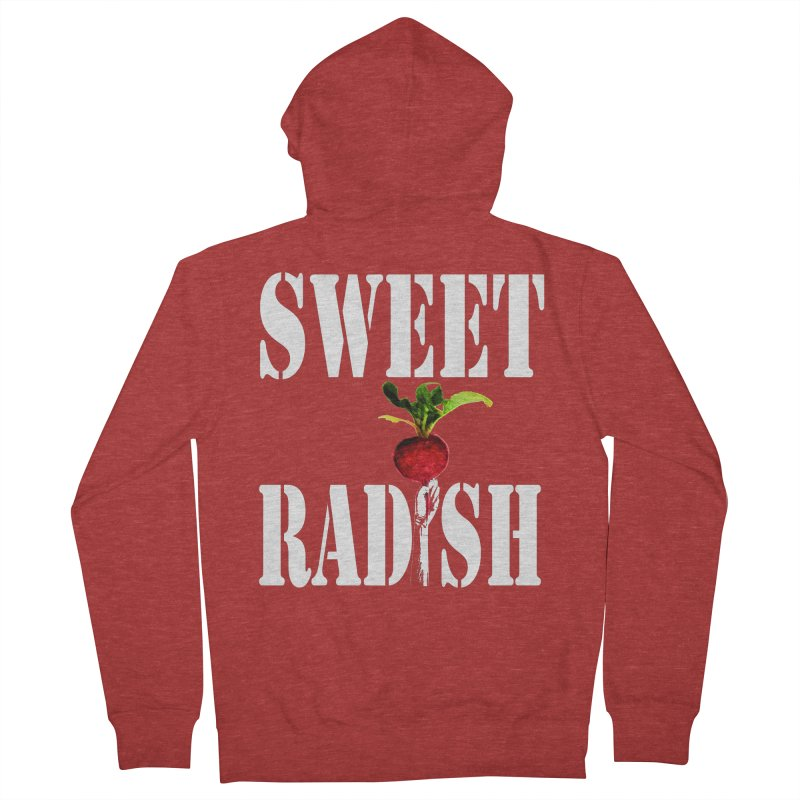 Sweet Radish Stencil Women's French Terry Zip-Up Hoody by jackrabbithollow's Artist Shop