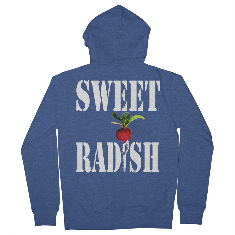 Sweet Radish Stencil Men's French Terry Zip-Up Hoody by jackrabbithollow's Artist Shop