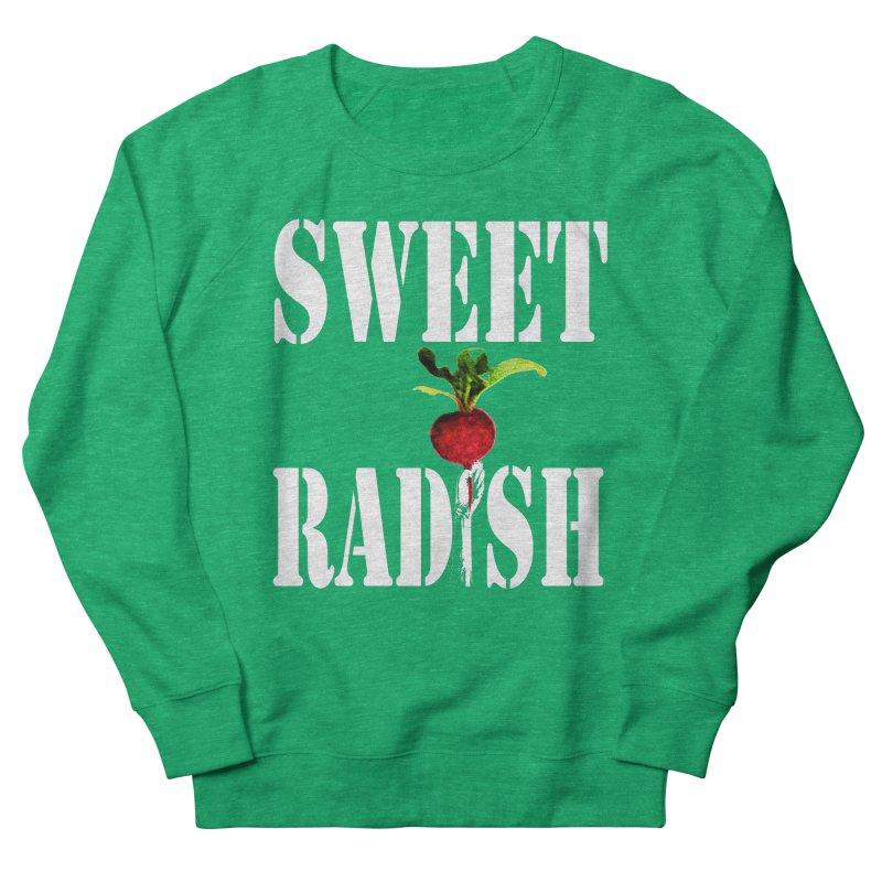 Sweet Radish Stencil Women's French Terry Sweatshirt by jackrabbithollow's Artist Shop