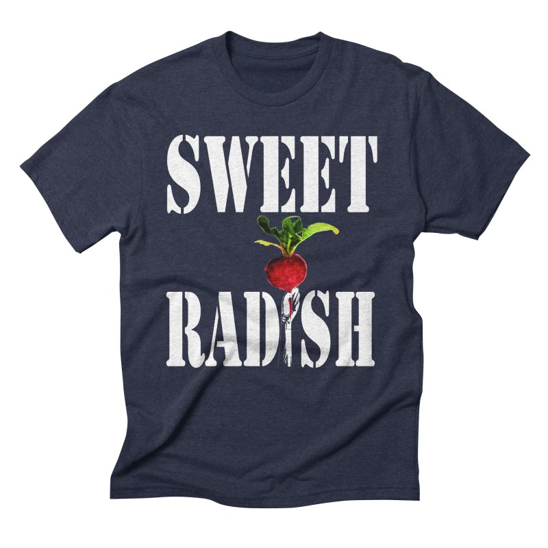 Sweet Radish Stencil Men's Triblend T-Shirt by jackrabbithollow's Artist Shop