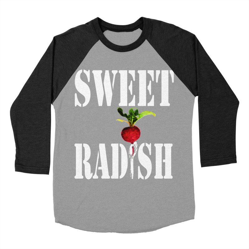 Sweet Radish Stencil Men's Baseball Triblend Longsleeve T-Shirt by jackrabbithollow's Artist Shop