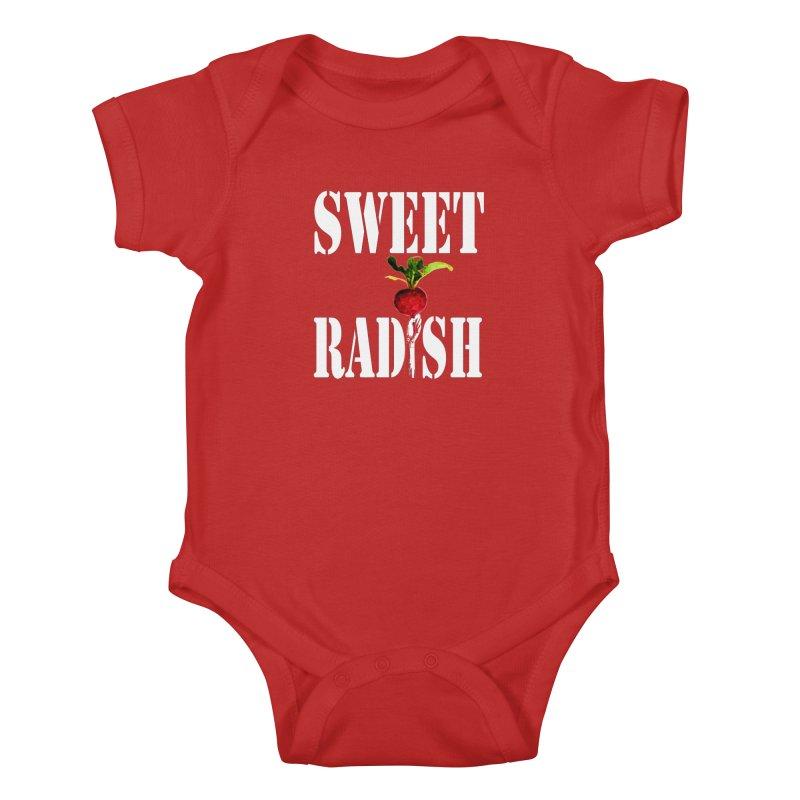 Sweet Radish Stencil Kids Baby Bodysuit by jackrabbithollow's Artist Shop