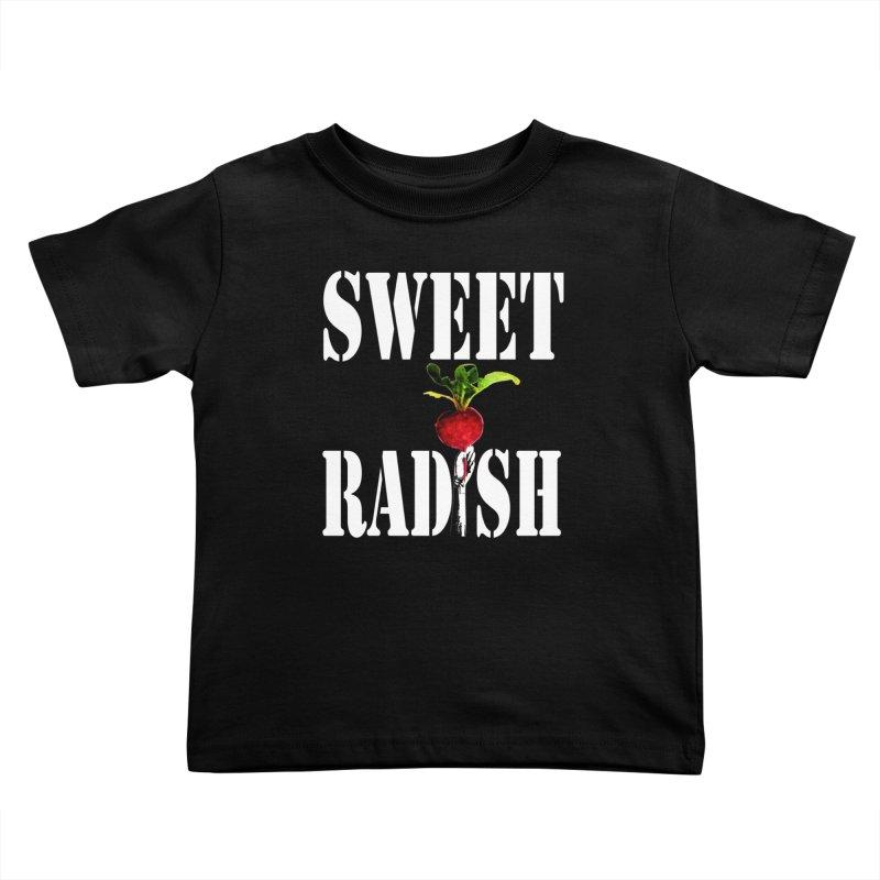 Sweet Radish Stencil Kids Toddler T-Shirt by jackrabbithollow's Artist Shop