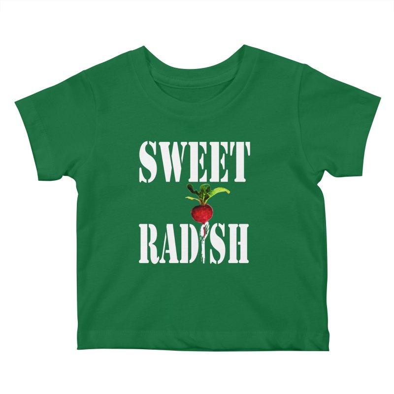 Sweet Radish Stencil Kids Baby T-Shirt by jackrabbithollow's Artist Shop