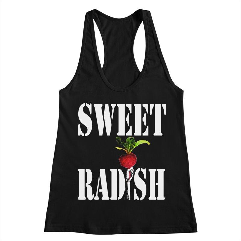 Sweet Radish Stencil Women's Racerback Tank by jackrabbithollow's Artist Shop