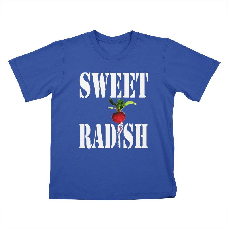 Sweet Radish Stencil Kids T-Shirt by jackrabbithollow's Artist Shop
