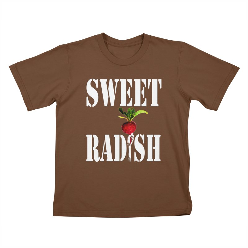 Sweet Radish Stencil Kids T-Shirt by jackrabbithollow's Artist Shop