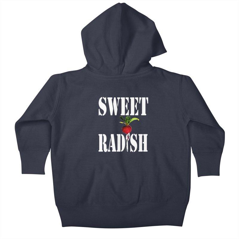 Sweet Radish Stencil Kids Baby Zip-Up Hoody by jackrabbithollow's Artist Shop