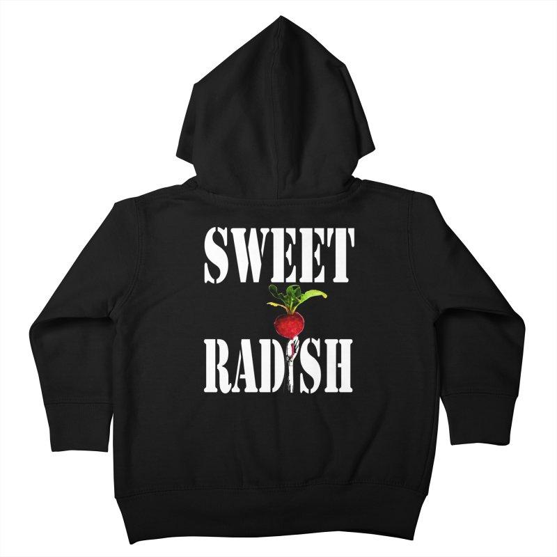 Sweet Radish Stencil Kids Toddler Zip-Up Hoody by jackrabbithollow's Artist Shop