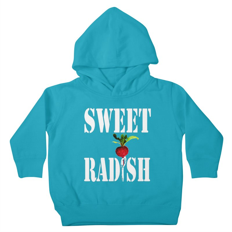 Sweet Radish Stencil Kids Toddler Pullover Hoody by jackrabbithollow's Artist Shop