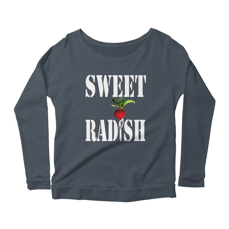Sweet Radish Stencil Women's Scoop Neck Longsleeve T-Shirt by jackrabbithollow's Artist Shop