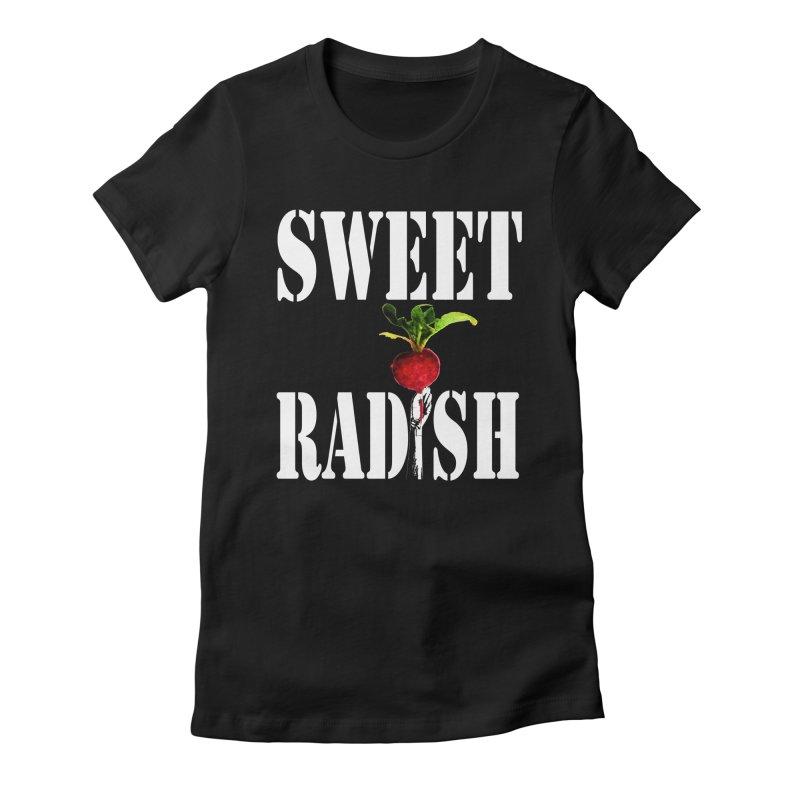 Sweet Radish Stencil Women's Fitted T-Shirt by jackrabbithollow's Artist Shop