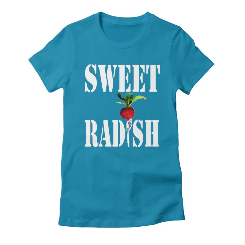 Sweet Radish Stencil Women's Fitted T-Shirt by jackrabbithollow's Artist Shop
