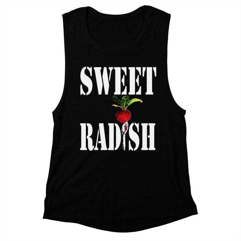 Sweet Radish Stencil Women's Muscle Tank by jackrabbithollow's Artist Shop