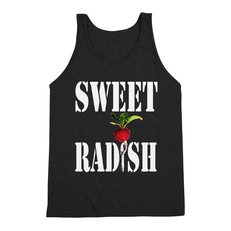 Sweet Radish Stencil Men's Triblend Tank by jackrabbithollow's Artist Shop