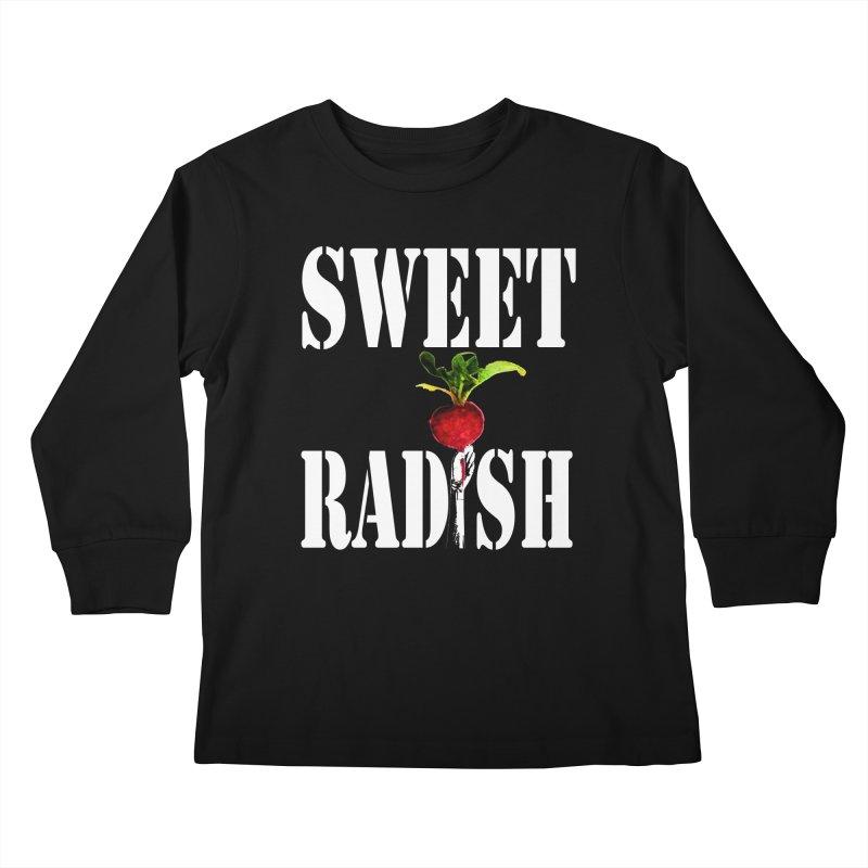 Sweet Radish Stencil Kids Longsleeve T-Shirt by jackrabbithollow's Artist Shop
