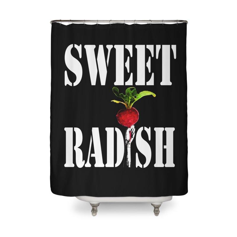 Sweet Radish Stencil Home Shower Curtain by jackrabbithollow's Artist Shop