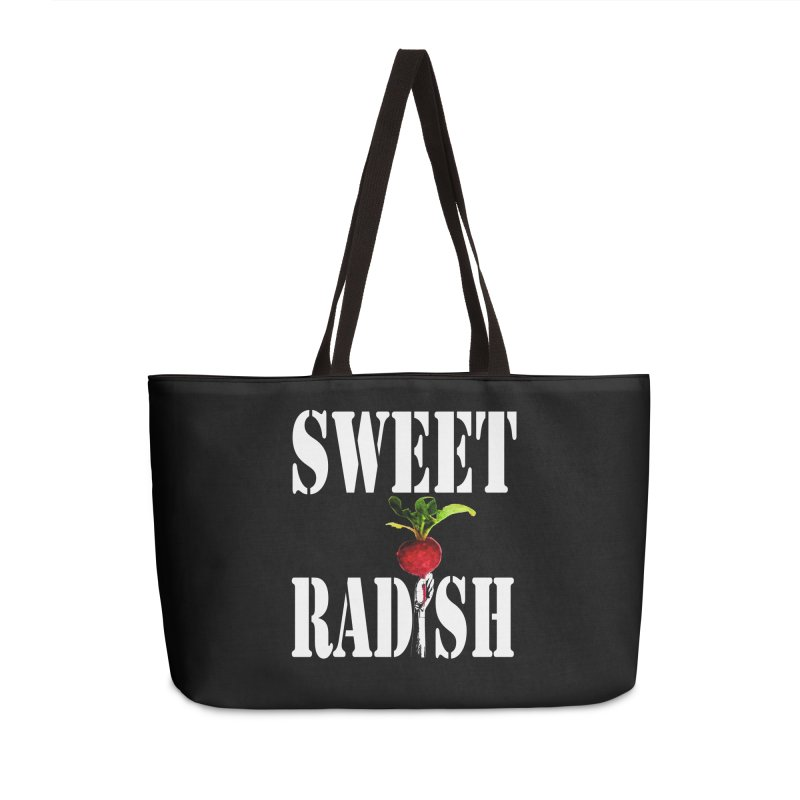 Sweet Radish Stencil Accessories Weekender Bag Bag by jackrabbithollow's Artist Shop